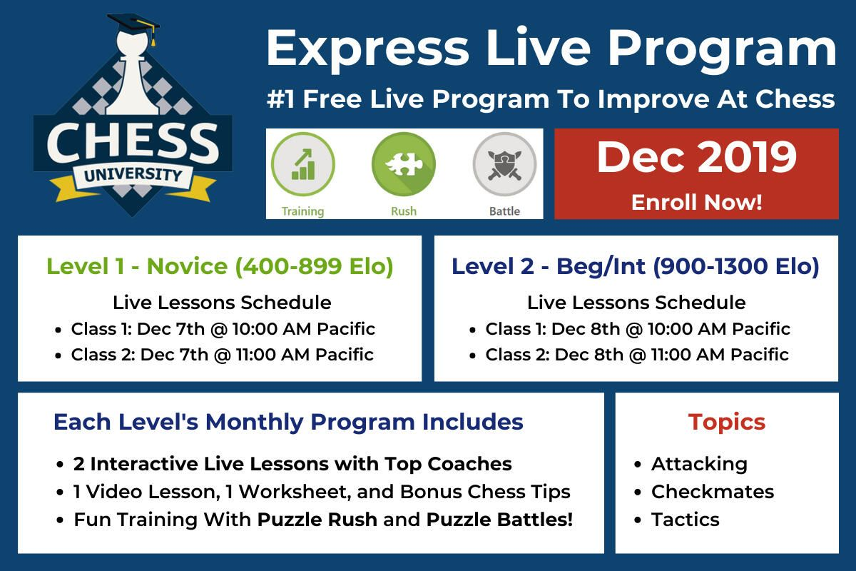Chess University S Express Live Program Begins Today