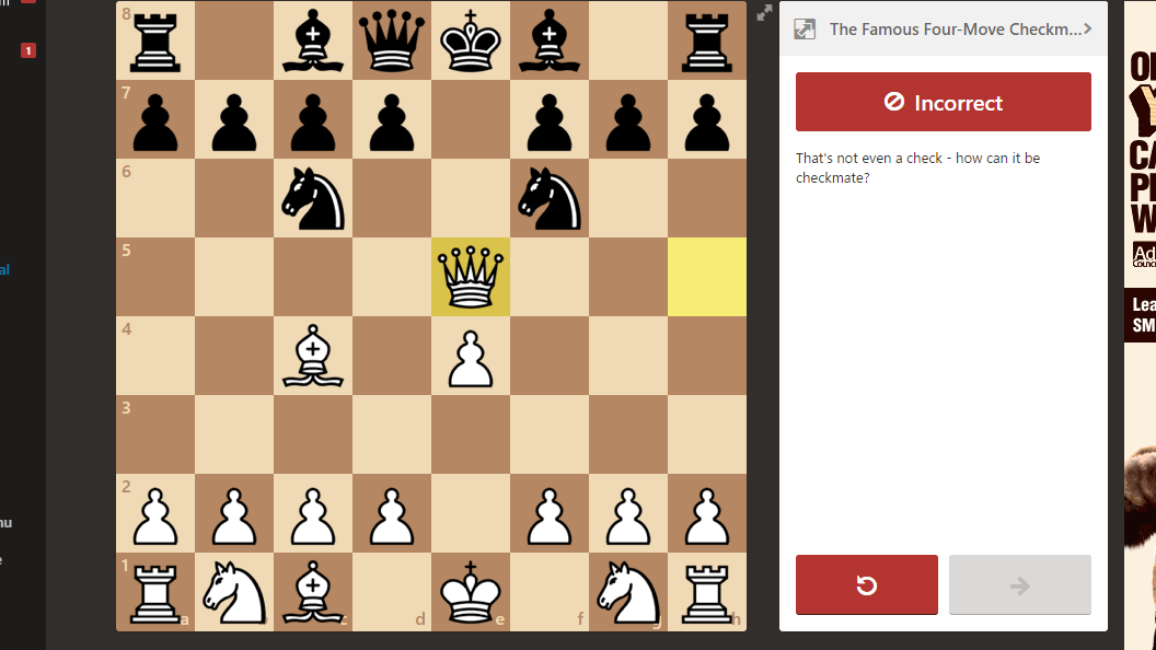 not a check chess