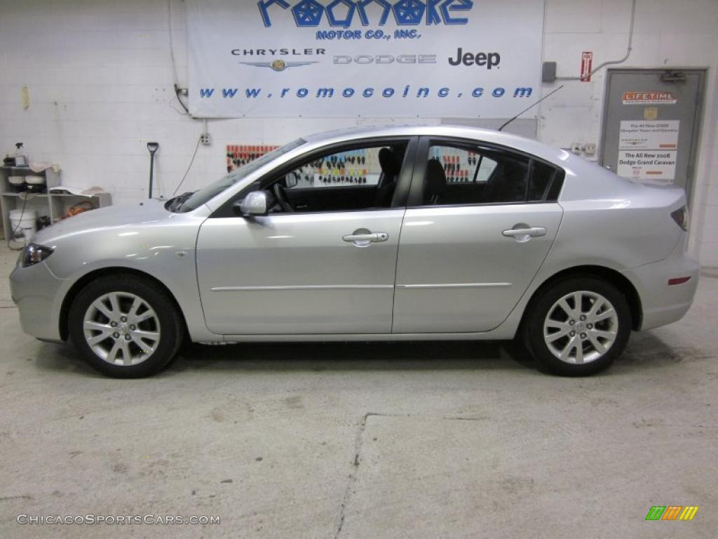 hight resolution of 2007 mazda mazda3 i sport sedan in sunlight silver metallic 765405