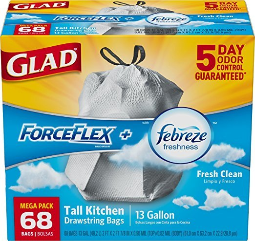 glad kitchen trash bags utility table forceflex drawstring tall reviews in waste image gallery
