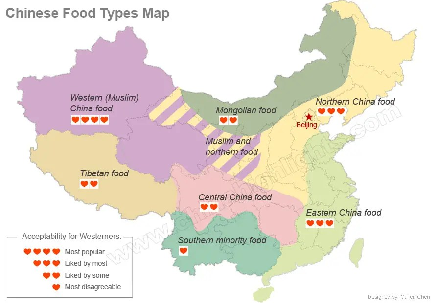 China's Regional Cuisines — Chinese Food Types Northsouth
