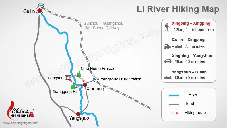 Guilin Li River Hiking: Routes near Xingping and Tips