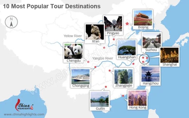 najpopularniejsze miejsca turystyczne w Chinach