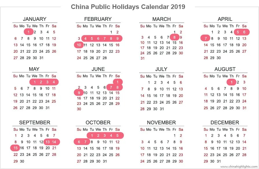 china holidays public holidays