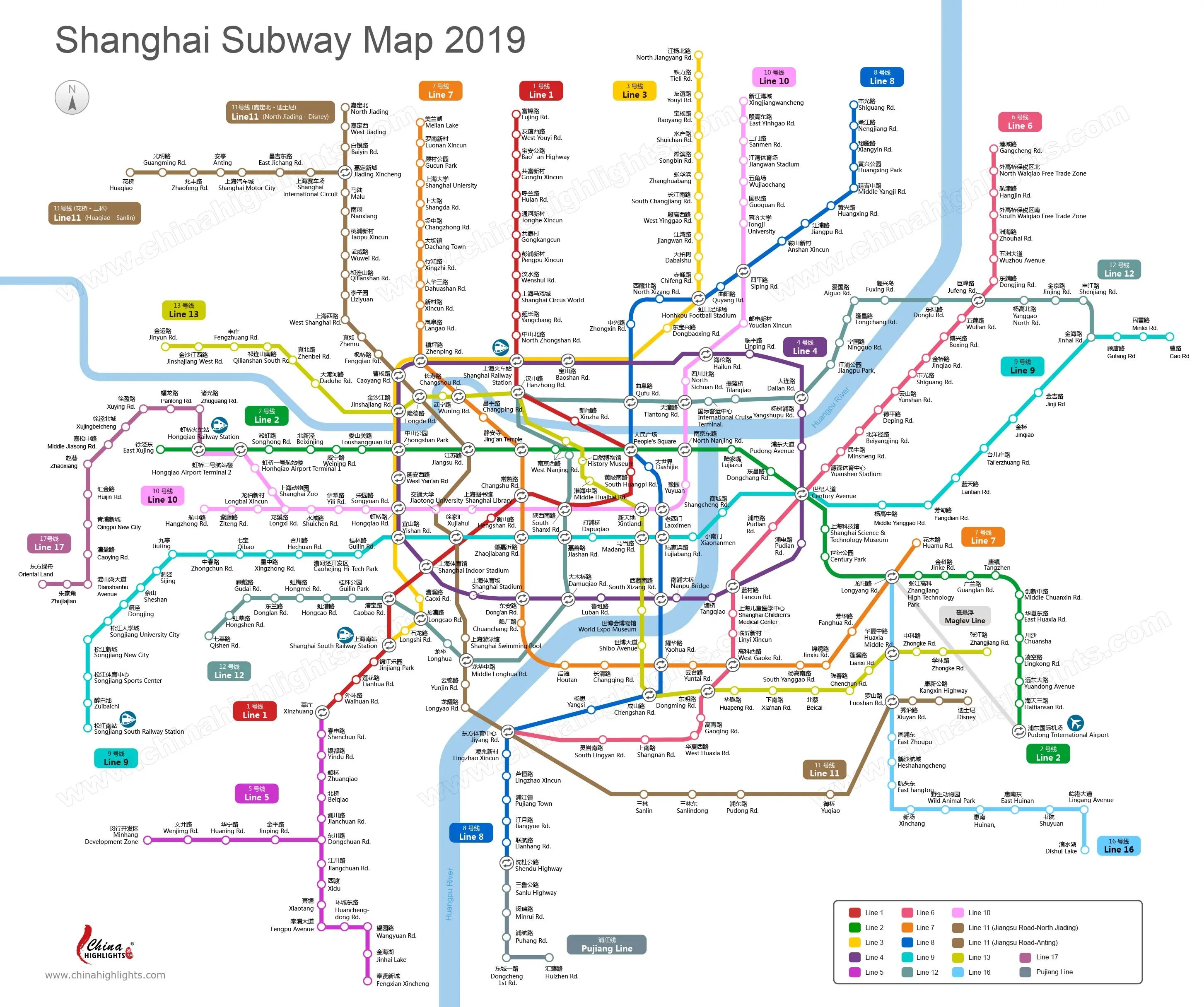 Shanghai Map Map Of Shanghai S Tourist Attractions And Subway