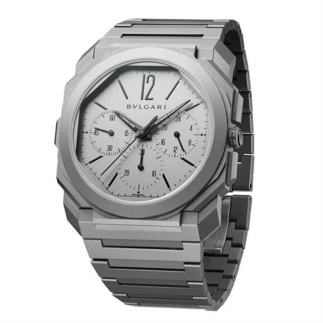 寶格麗今年以Octo Finissimo Chronograph GMT計時碼表拿下「最佳計時碼表獎」。(BVLGARI提供)