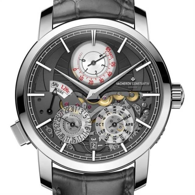 江詩丹頓「Twin Beat」雙振頻萬年曆腕表有休眠功能,如期拿下「最佳創新獎」。(Vacheron Constantin)