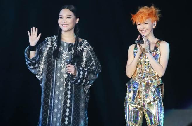 許美靜多年前擔任孫燕姿演唱會嘉賓,喚起不少歌迷青春回憶。(圖/九牛娛樂資料照)
