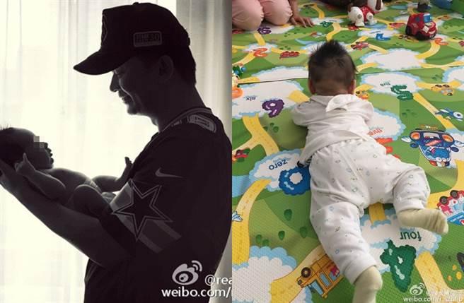 黃海波2015年宣布當爸。(圖/翻攝自real黃海波微博)