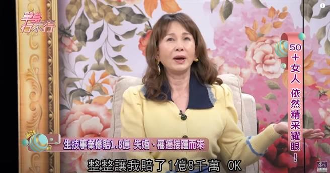 周丹薇慘賠1.8億。(圖/YT@東風衛視)