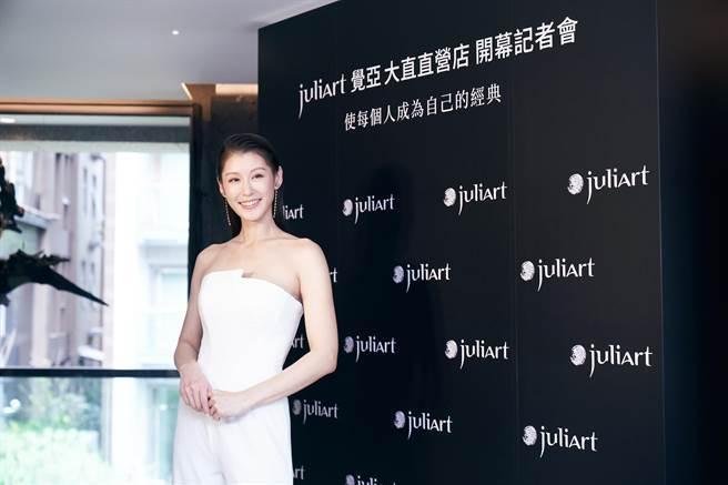 趙孟姿當媽後個性容易急,尤其寶寶一哭更讓她緊張。(品牌提供)