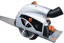 Triton Tts1400 Kit Plunge Track Saw With Guide Rail And Clamp Kit