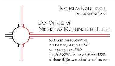 Law Offices of Nicholas Koluncich Iii, LLC in Albuquerque