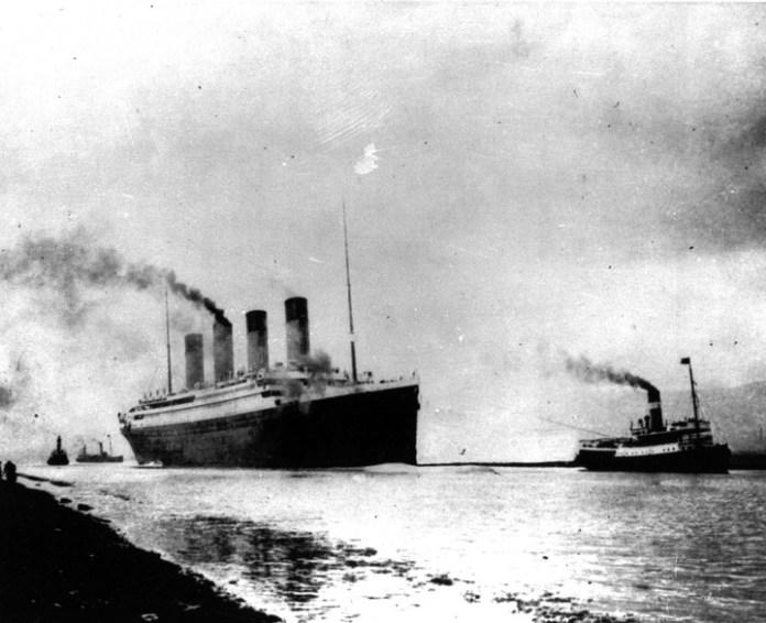 Comienzo del viaje. El Titanic zarpa de Southampton, Inglaterra, para su primer viaje a través del Atlántico. Foto/ AP
