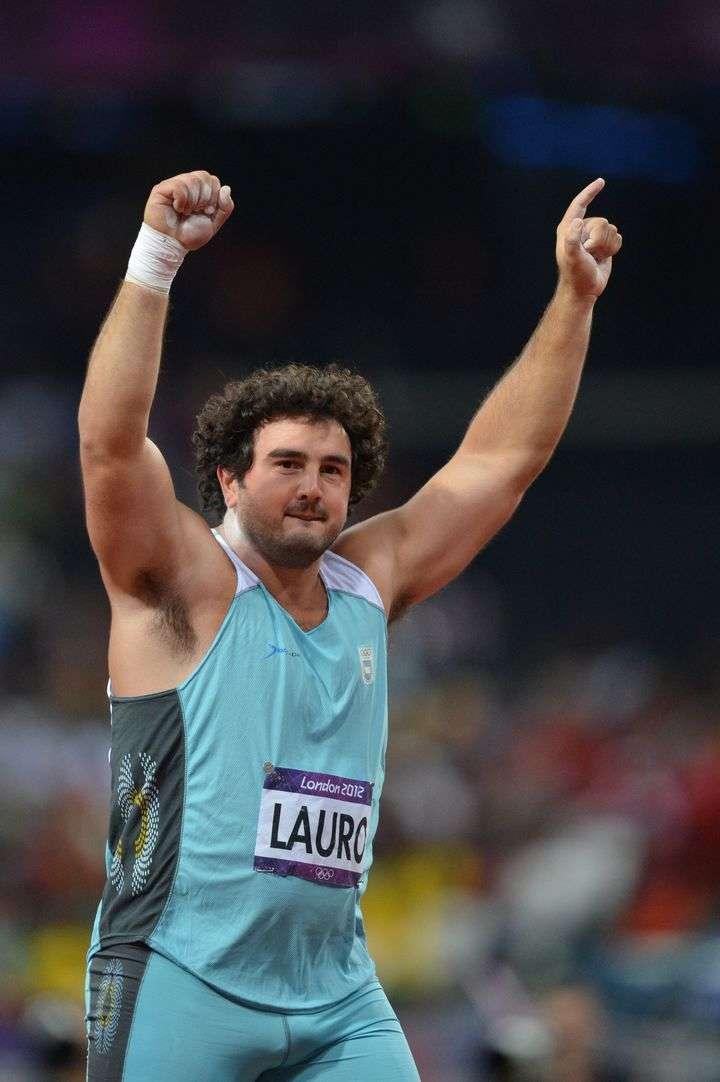 Historia pura. Germán Lauro fue sexto en los Juegos Olímpicos de Londres 2012 y batió su récord argentino. Foto: AFP