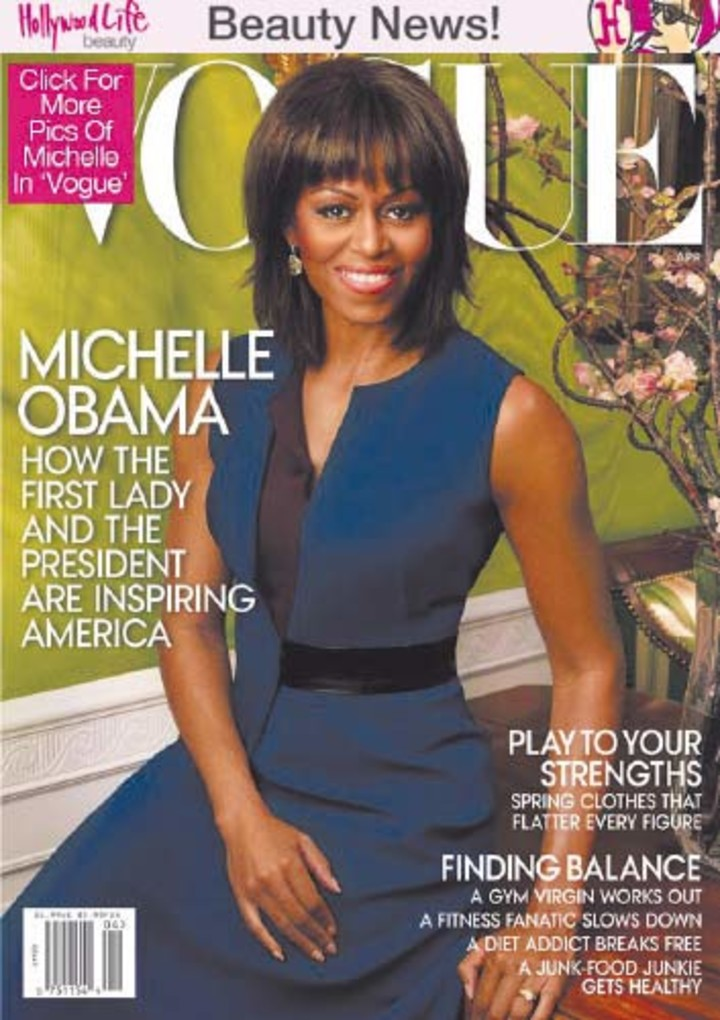 Michelle Obama, when she was the cover of the magazine.