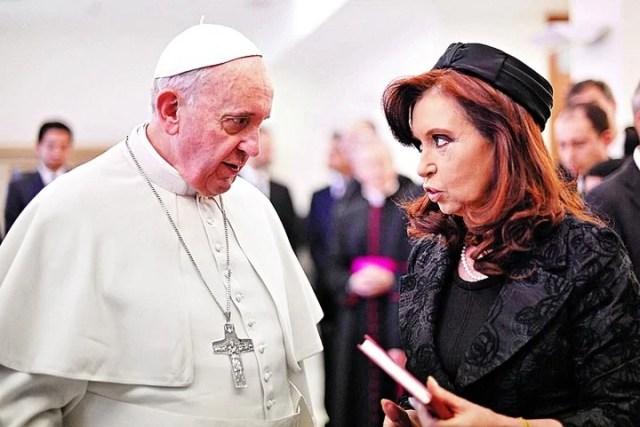 El pontífice y CFK. (EFE)