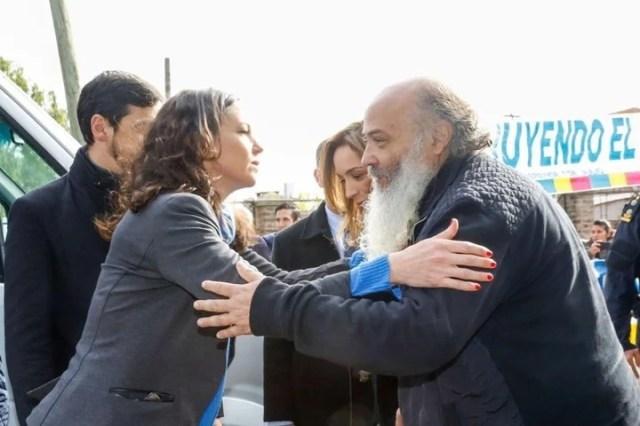 Carolina Stanley y Emilio Pérsico, en 2016