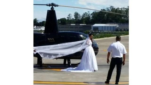 Impactante video: iba en helicóptero a su boda y se estrelló