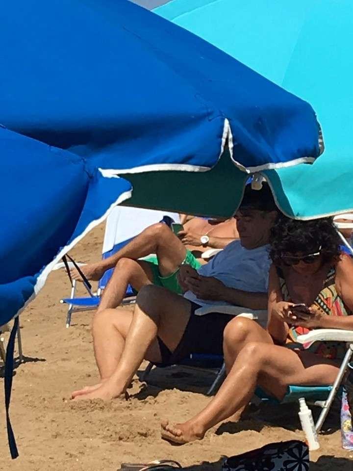 Carlos Zannini se fue a tomar sol a Punta del Este