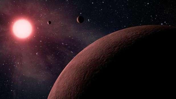 Dos de los planetas son gaseosos y el tercero rocoso como la Tierra (NASA/JPL-Caltech via AP)