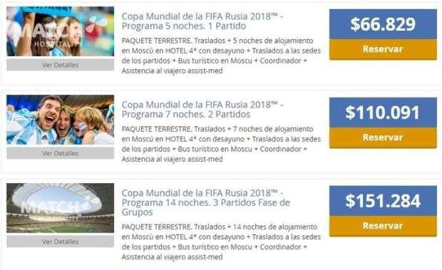 """Cientos de argentinos ya pagan más de $ 15.000 por entradas """"VIP"""" para el Mundial de Rusia"""