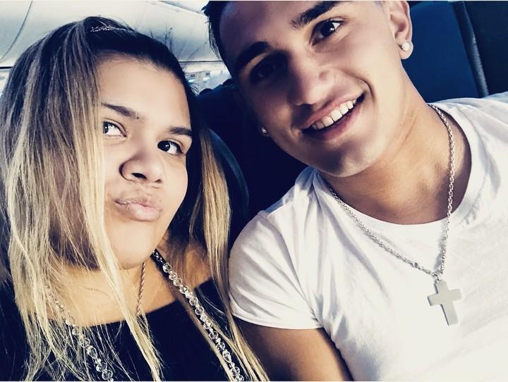 Morena Rial con su novio, Facundo Ambrosioni. (Instagram)