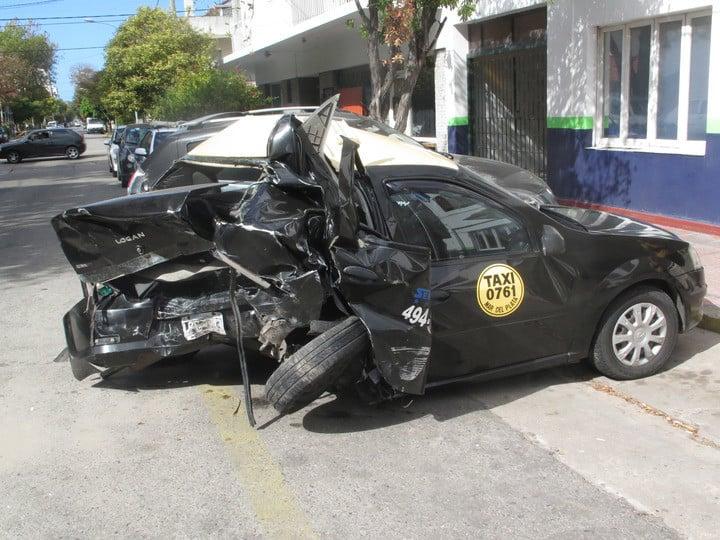 Antonio Szapiel era jubilado y manejaba un taxi. Lo mató un ladrón que había robado un auto, escapaba de la Policía y lo chocó. Foto: Fabián Gastiarena