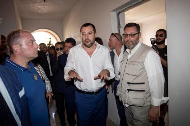Matteo Salvini habla con periodistas, en Roma. / AP