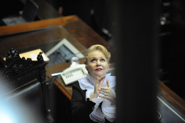 Pinky, hace casi una década, durante el juramento de diputados  en el Congreso. (Germán García Adrasti).