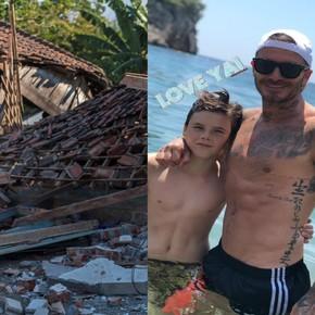 La familia Beckham quedó atrapada en el sismo de Indonesia