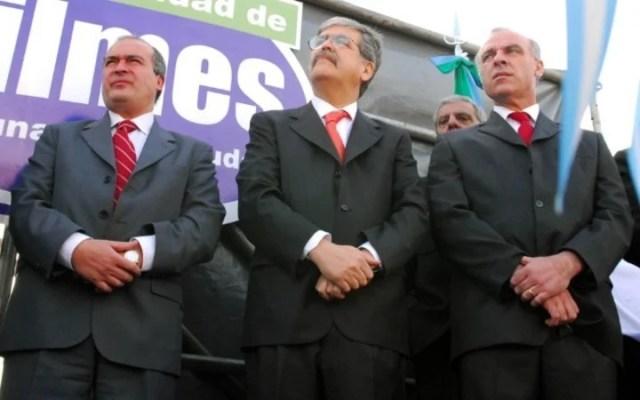 José López, Julio De Vido y Claudio Uberti, en 2006. Los dos primeros ex funcionarios kirchneristas están presos. El tercero detalló en la Justicia cómo los Kirchner recaudaban plata de coimas. Foto Télam