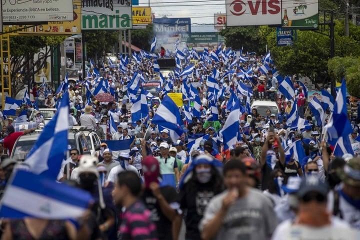 The protests against Daniel Ortega in 2018 were harshly repressed.  Photo: EFE