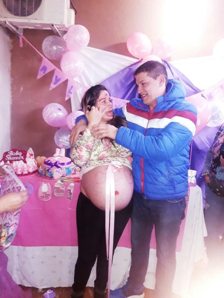 Eduardo Soria (35) y Griselda González (34), durante el embarazo.