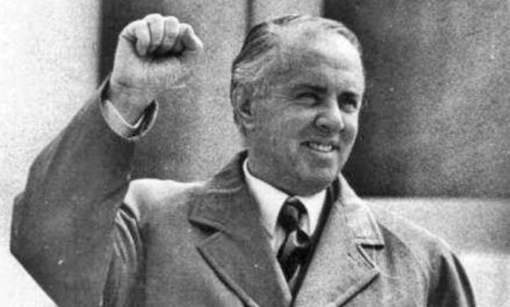 Enver Hoxha, former President of Albania.
