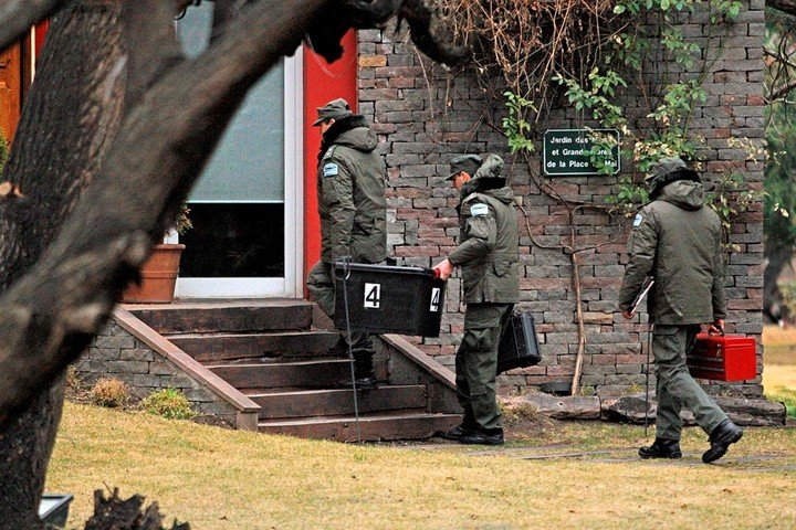 Allanamiento. En la casa de El Calafate de la ex presidenta Cristina Fernández de Fernández.