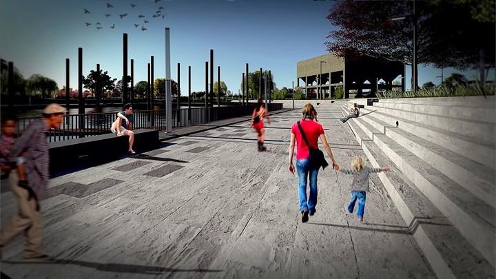 Así proyectan recuperar la rambla del Puerto de San Isidro, según los gráficos que acompañan el anteproyecto de obras. (Fuente: Municipalidad de San Isidro)
