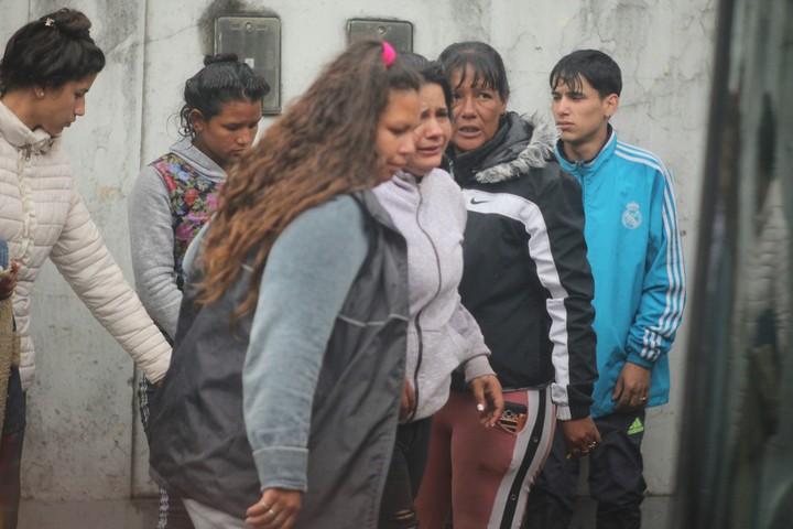 Sepelio de Sheila Alejandra Ayala, la nena que fue asesinada en San Miguel. (Foto: Mario Sayes)