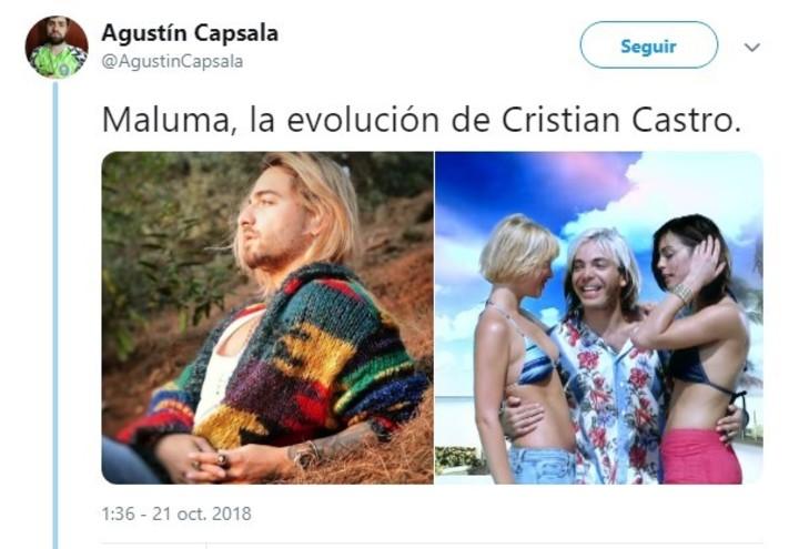 Uno de los tantos memes que le hicieron al colombiano. (Twitter)