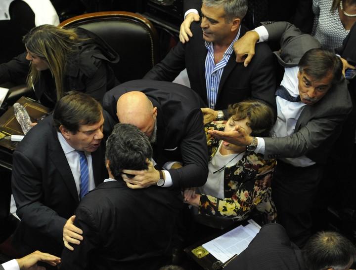 Tensión en la Cámara de Diputados. /LUCIA MERLE