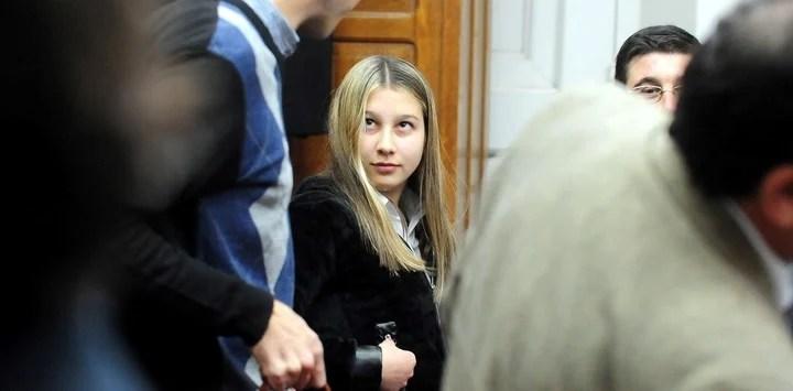 Nahir durante el juicio en el que la condenaron.