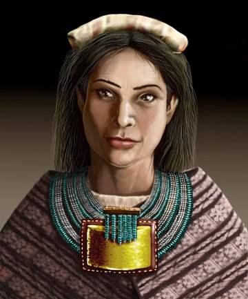 Recreación de cómo sería el rostro de la mujer que vivió en el final del imperio incaico y cuyo esqueleto fue hallado en Jujuy. (Jorge Antonio González)