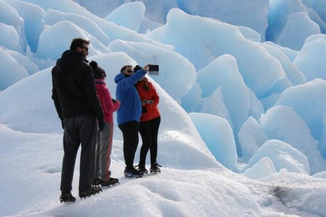 Trekking en el glaciar.