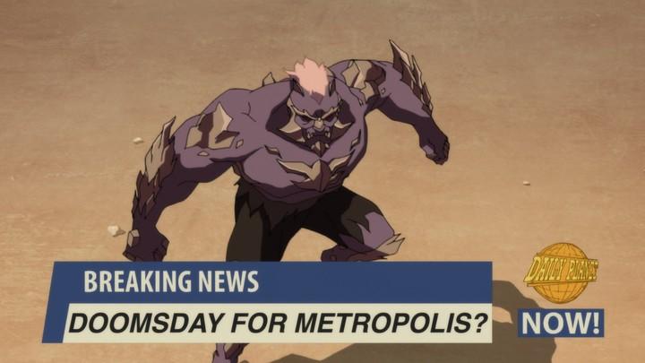 """Una entidad extraterrestre conocida como Doomsday pone en jaque a Metrópolis y todo Estados Unidos en """"La muerte de Superman""""."""
