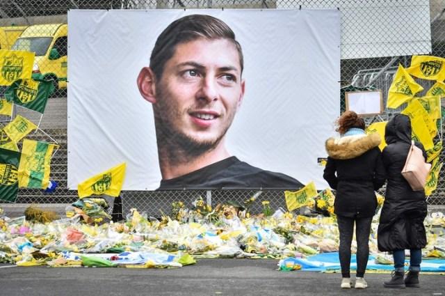 Gigantografía. El homenaje a Emiliano Sala en Nantes, club en el que se destacó.