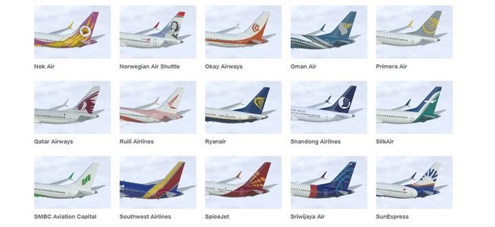 Aerolíneas que usan el Boeing 737 Max