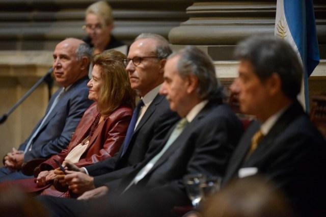 Los cinco jueces de la Corte Suprema Ricardo Lorenzetti, Elena Highton, Carlos Rosenkrantz, Juan Carlos MAqueda y Horacio Rosatti. Foto: Andrés D'Elia