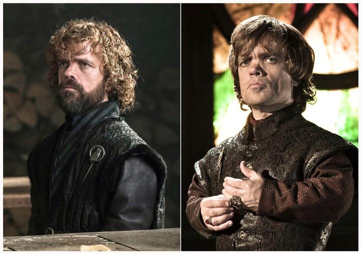 Peter Dinklage, wen la piel de Tyrion Lannister (personaje clave de GOT), según pasan los años..(HBO/AP)
