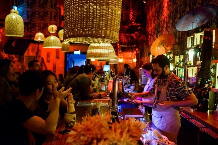 Polynesian exuberance in Oh no Lulu.  Photo: Andrés D'Elia