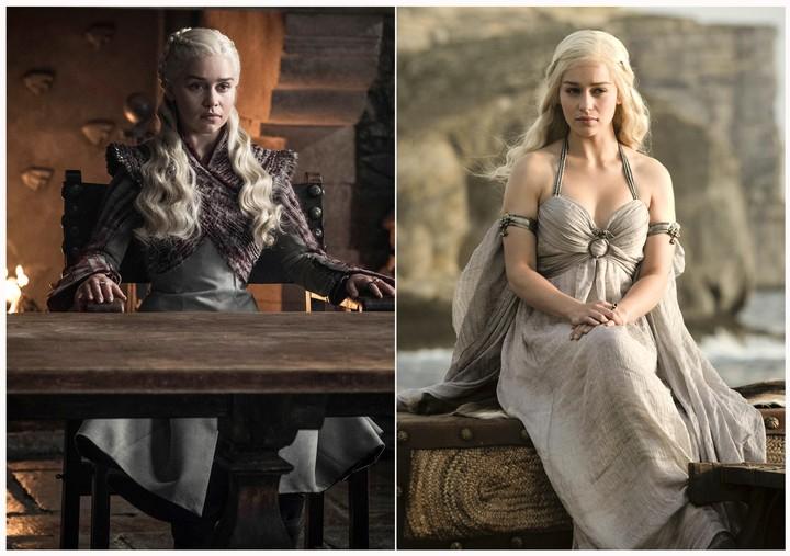 Emilia Clarke como Daenerys Targaryen en Game of Thrones. (HBO via AP)